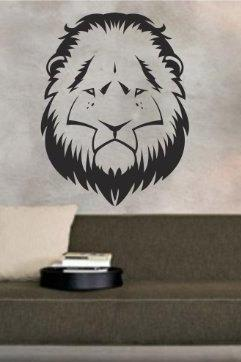 Lion Face Version 101 Decal Sticker Wall