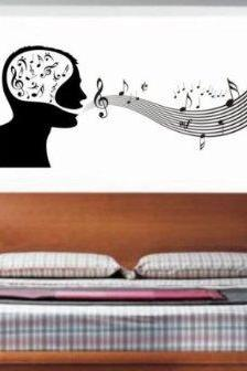 Music Man Decal Wall Mural Decal Sticker Music on My Mind