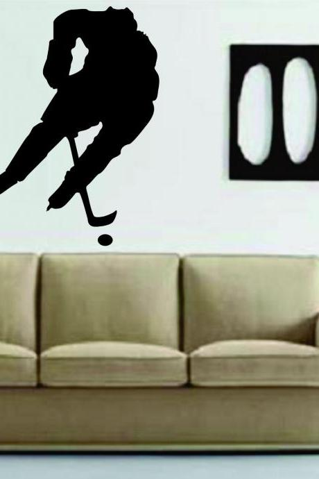 Ice Hockey Player Version 102 Decal Sticker Wall