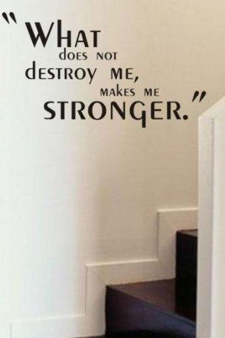 Wall Decal Quotes - What Does Not Destroy Me Quote Decal Sticker Wall