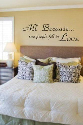 Wall Decal Quotes - All Because Two People Fell in Love Quote Decal Sticker Wall