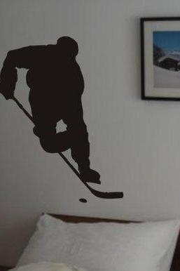 Ice Hockey Player Decal Sticker Wall