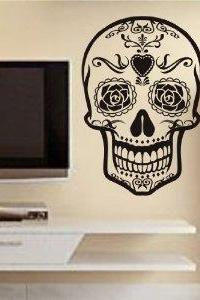 Sugar Skull Version 9 Wall Vinyl Decal Sticker Art Graphic Sticker Sugarskull