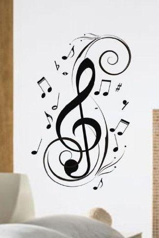 Music Notes Design Decal Wall Mural Decal Sticker