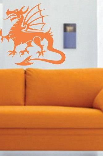 Tribal Dragon Wall Decal Sticker Mural Art Graphic Dragon Kid Boy Room Asian 101