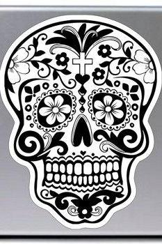 Sugar Skull Laptop Vinyl Decal Sticker Art Graphic Sticker Sugarskull Decal Sticker Laptop Car Window