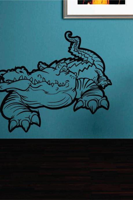 Aligator Version 101 Vinyl Wall Decal Sticker Zoo Modern Wall Mural Art Animal