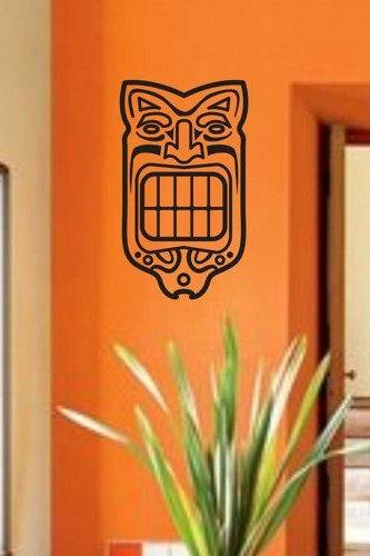 Tiki 2 Decal Sticker Wall Mural Art Graphic Vintage Baby Nursery Office Room Boy Girl Central Eastern Polynesian