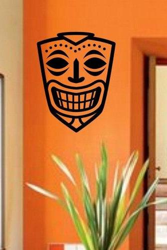 Tiki Decal Sticker Wall Mural Art Graphic Vintage Baby Nursery Office Room Boy Girl Central Eastern Polynesian