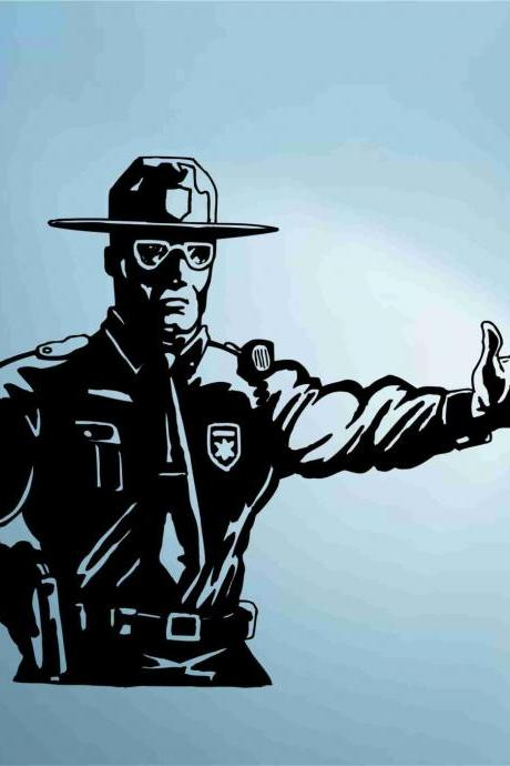 Cop Policeman Police Decal Sticker Wall Vinyl