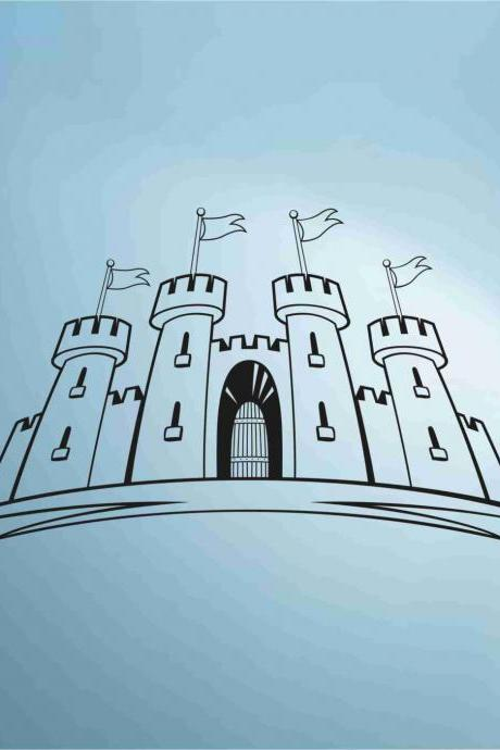 Princess Castle decal sticker vacation wall mural Version 104