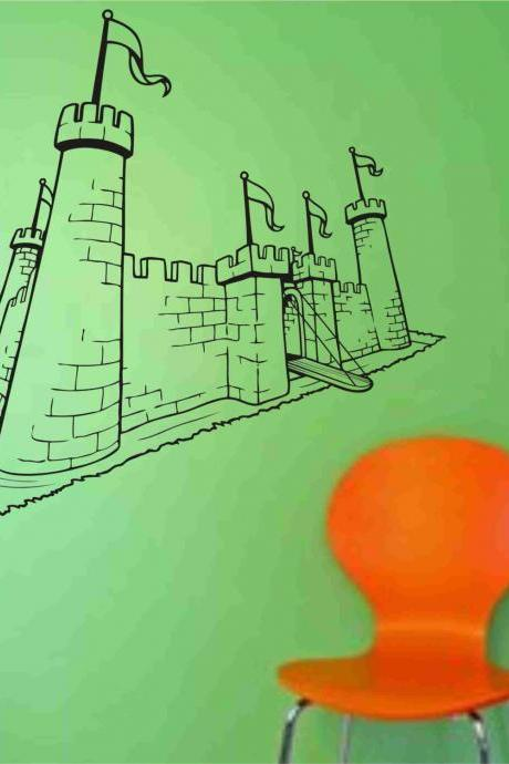 Princess Castle decal sticker vacation wall mural Version 103