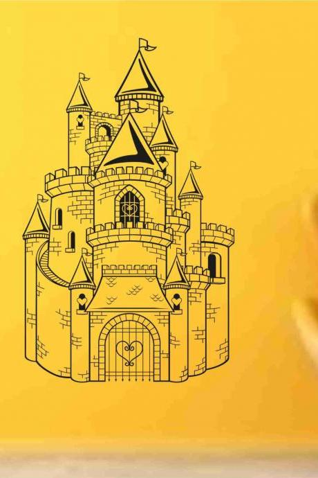 Princess Castle decal sticker vacation wall mural Version 102