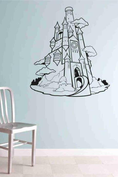Princess Castle decal sticker vacation wall mural Version 101