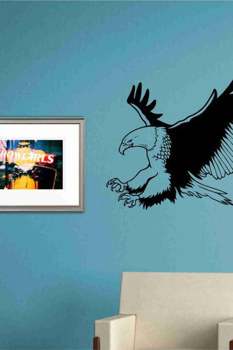 Bald Eagle Wall Mural Decal Sticker Vinyl