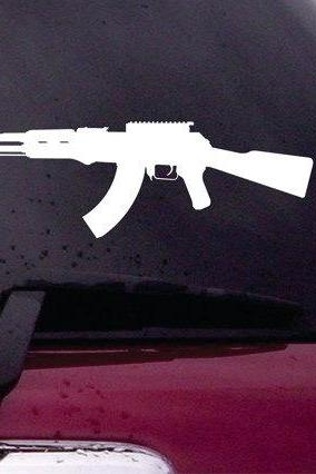 Ak-47 Decal Sticker Vinyl Decal Sticker Art Graphic Stickers Laptop Car Window AK 47