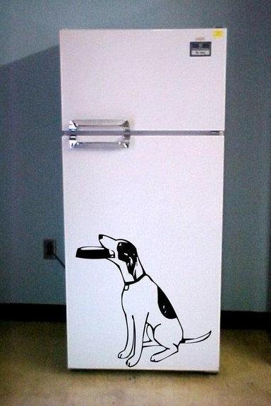 Begging Dog Decal Sticker Wall
