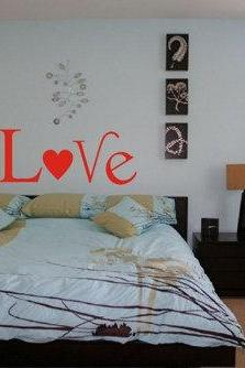 Love Decal Sticker Wall Art Wall Decal Sticker Nursery Kid Room Girl Baby