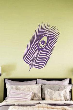 Peacock Feather Decal Sticker Bird Birds of Paradise Pretty Cute Exotic Animal Wall