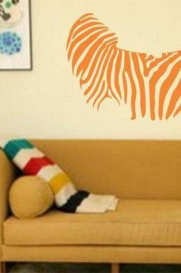 Zebra Print Decal Sticker Wall Mural Nursery Children Modern Kids Stripes