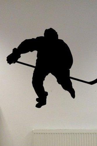 Ice Hockey Player Version 1 Decal Sticker Wall