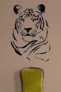 Tiger Face Version 103 Decal Sticker Wall Animal Kid Child Room Boy Girl Teen Nursery