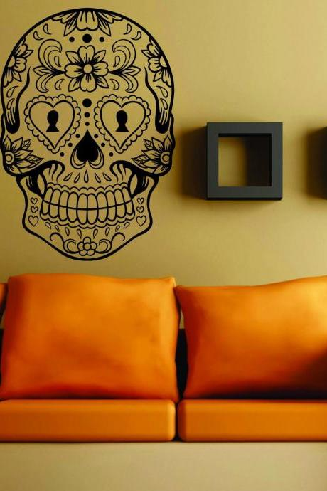 Sugarskull Version 6 Wall Vinyl Decal Sticker Sugar Skull