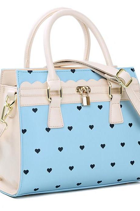 New Heart-shaped Lock Shoulder Bag & Messenger Bag