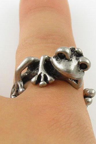 Animal Wrap Ring - Chillin' Tree Frog - Silver