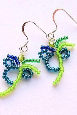 Hidden Mickey Mouse Palm Tree Disneyland Pacific Hotel Disney Cruise Line Inspired Beaded Earrings