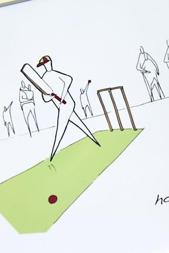 Cricket Anonymity Illustrative print (10' x 12' / 255mm x 305mm)