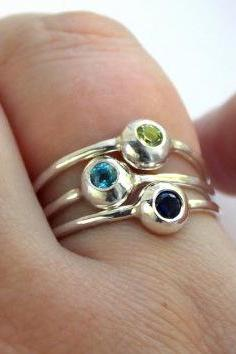 Set of 3 Pebble Stacking Rings
