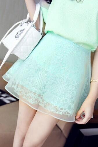 Lace high-waisted skirts BA721BB