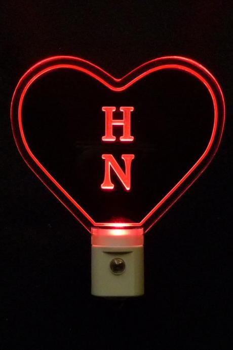 Personalized Custom LED Heat Shaped Night Light