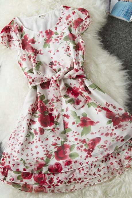 Sleeveless floral dress WQ724C
