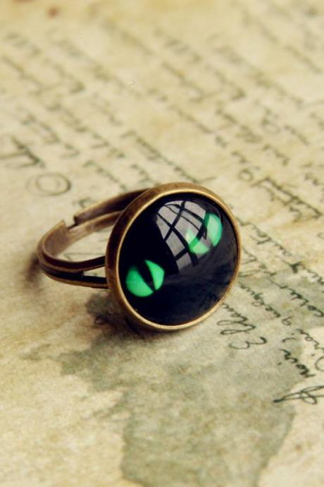 Vintage Cat Eye Pattern Ring For Women