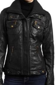 Handmade Women black Biker Leather Jacket, women's Real Leather Jacket, women stylish jacket