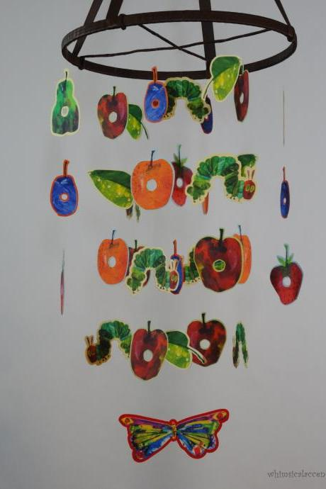 The Very Hungry Caterpillar Nursery Decorative Mobile, Bedroom or Classroom