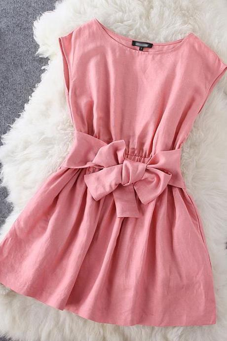 Bow pink dress SC728EF
