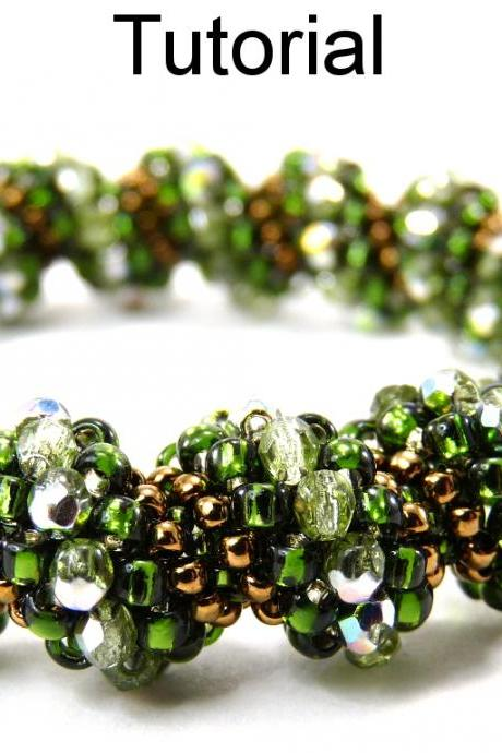 Beading Tutorial Pattern Bracelet Necklace - Tubular Peyote - Simple Bead Patterns - Cellini #9391