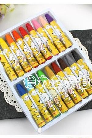 Baisoo stationery supplies fresh 18colors oil pastel for school student art drawing doodle prize 18pcs/set Oulm