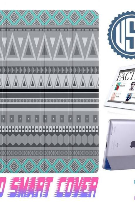 USA Aztec Tribal IPad Air Smart Cover , IPad Mini Smart Cover , IPad 4 Smart Cover , IPad 3 case , ipad 2 Magnetic Sleep Wake Case #305