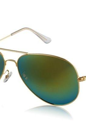Unisex Sunglasses with Alloy Frame (Gold)