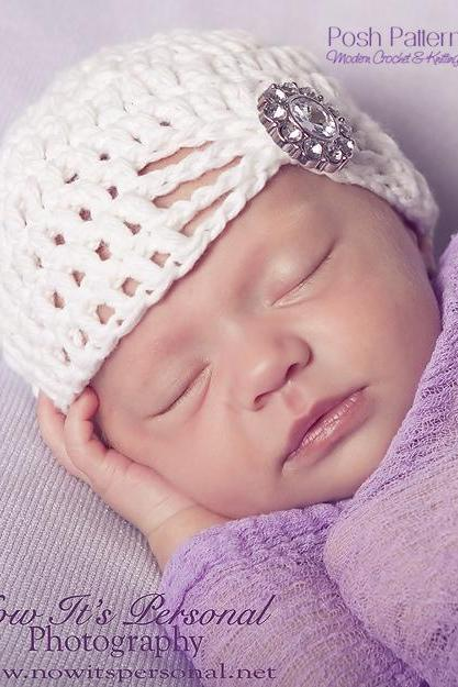 Crochet Hat Pattern Fancy Crochet Baby Beanie Crochet Pattern Newborn to Adult Sizes PDF 240