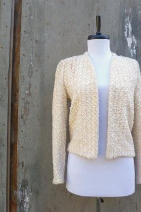 1960s Knit Jacket Off White No Closure