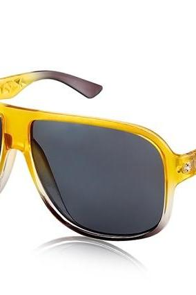 Kadishu 9031 Men's Trendy Sunglasses (Yellow & Black)