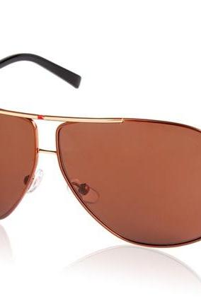Monel Alloy Frame Driving Glasses Sunglasses (Gold)