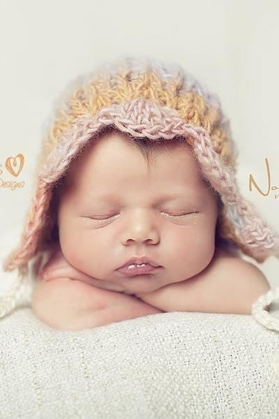 Crochet Hat Pattern - Vintage Baby Bonnet Pixie Hat Crochet Pattern - Newborn to Adult Sizes - PDF 323