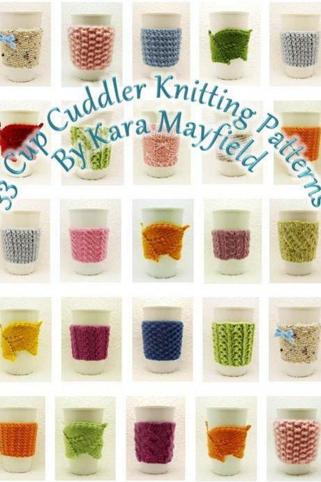 Ebook 33 Cup Cuddler Knitting Patterns PDF Instant Download