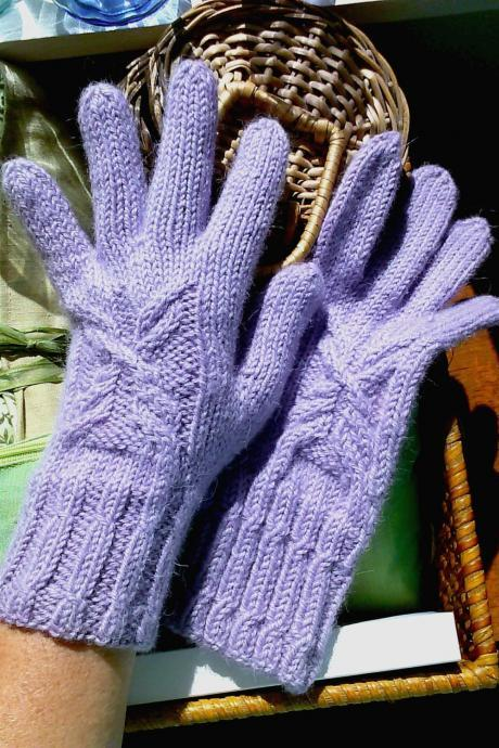 Cable Butterfly Gloves Knitting Pattern Instant Download